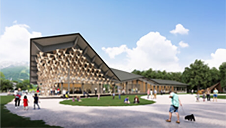 Snow Peak, presented Glamping Hakuba, designed by Kengo Kuma and Associates